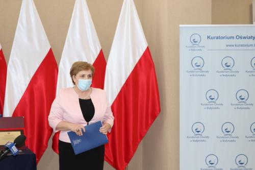 Na zdjęciu widocznaj est Pani Beata Pietruszka - Podlaski Kurator Oświaty.