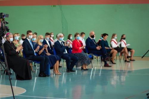 Goście uczestniczący w wojewódzkiej inauguracji roku szkolnego 2021/2022